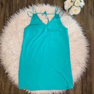 • CeCe Summer Beach Aqua Blue Straps Dress •